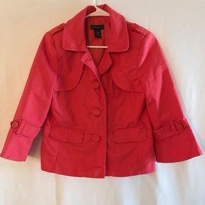 Rafaella pink three button jacket